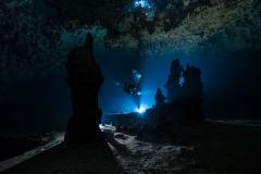 Cenote Uxuxubi - jeskyně upstream