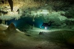 cenote Dos Palmas - cave down stream